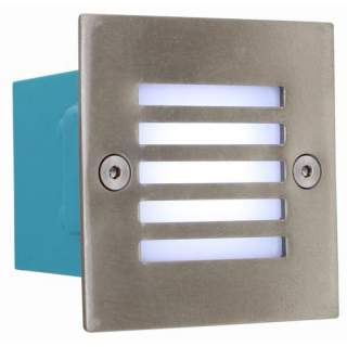LED Foot Light - Square Stainless Steel Eurolux