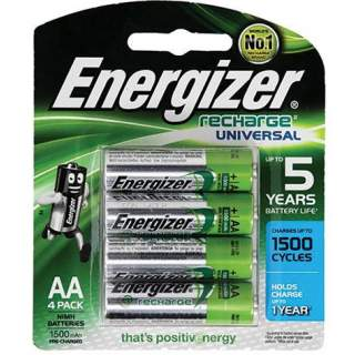 Rechargeable Batteries - AA 4 Pack